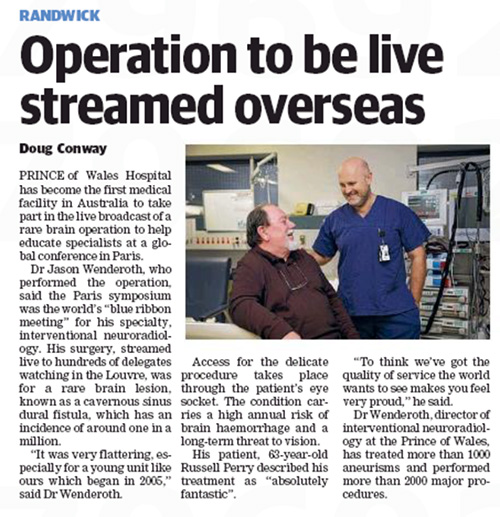 Operation to be live streamed overseas